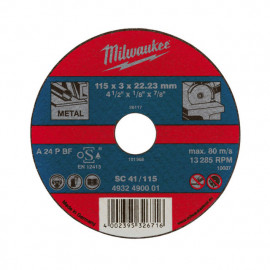 Отрезной диск MILWAUKEE по металлу SCS 41 / 180 X 3 X 22.2 мм 4932451493