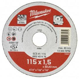 Отрезной диск по металлу SCS 41 MILWAUKEE 4932451476