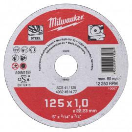Отрезной диск по металлу SCS 41 MILWAUKEE 4932451477