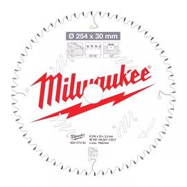 Пильный диск для торцовочной пилы по дереву MILWAUKEE 254x30x3,0x60 скошенные зубья отрицательный угол 4932471320
