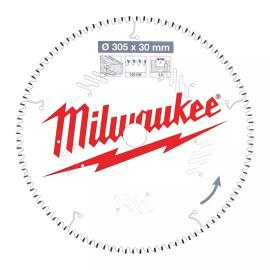 Пильный диск для торцовочной пилы по дереву MILWAUKEE 305x30x3,0x100 скошенные зубья отрицательный угол 4932471322