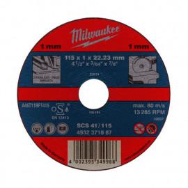 Отрезной диск MILWAUKEE по металлу SCS 41 / 115 X 1 X 22.2 мм 4932451484