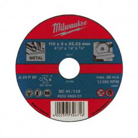 Отрезной диск MILWAUKEE по металлу SCS 41 / 115 X 3 X 22.2 мм 4932451491