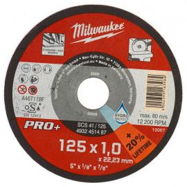 Отрезной диск MILWAUKEE SCS 41/125х1 PRO+ (дисплей 200 шт.) 4932451488