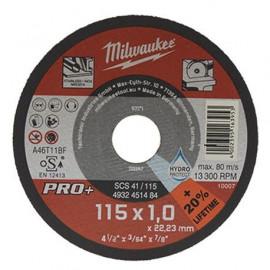 Отрезной диск MILWAUKEE SCS 41/115х1 PRO+ (дисплей 200 шт.) 4932451485