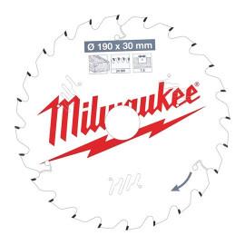 Пильный диск для циркулярной пилы по дереву MILWAUKEE 184x30x2,4x54 трапецевидный зуб/плоский зуб отрицательный угол 4932471300