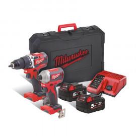 Набор инструментов MILWAUKEE M18 CBLPP2B-502C 4933464718