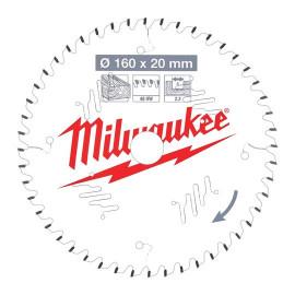 Пильный диск для циркулярной пилы по дереву MILWAUKEE 160x20x2,2x48 скошенные зубья 4932471291