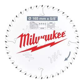 Пильный диск для циркулярной пилы по дереву MILWAUKEE 165x15.87x1.6x40 скошенные зубья 4932471312