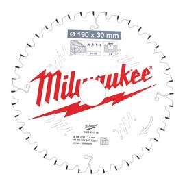 Пильный диск для торцовочной пилы по дереву MILWAUKEE 165x15.87x1.6x40 скошенные зубья 4932471314